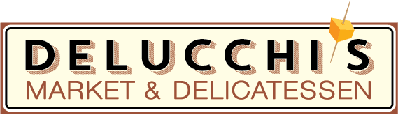 A theme logo of Delucchi's Market